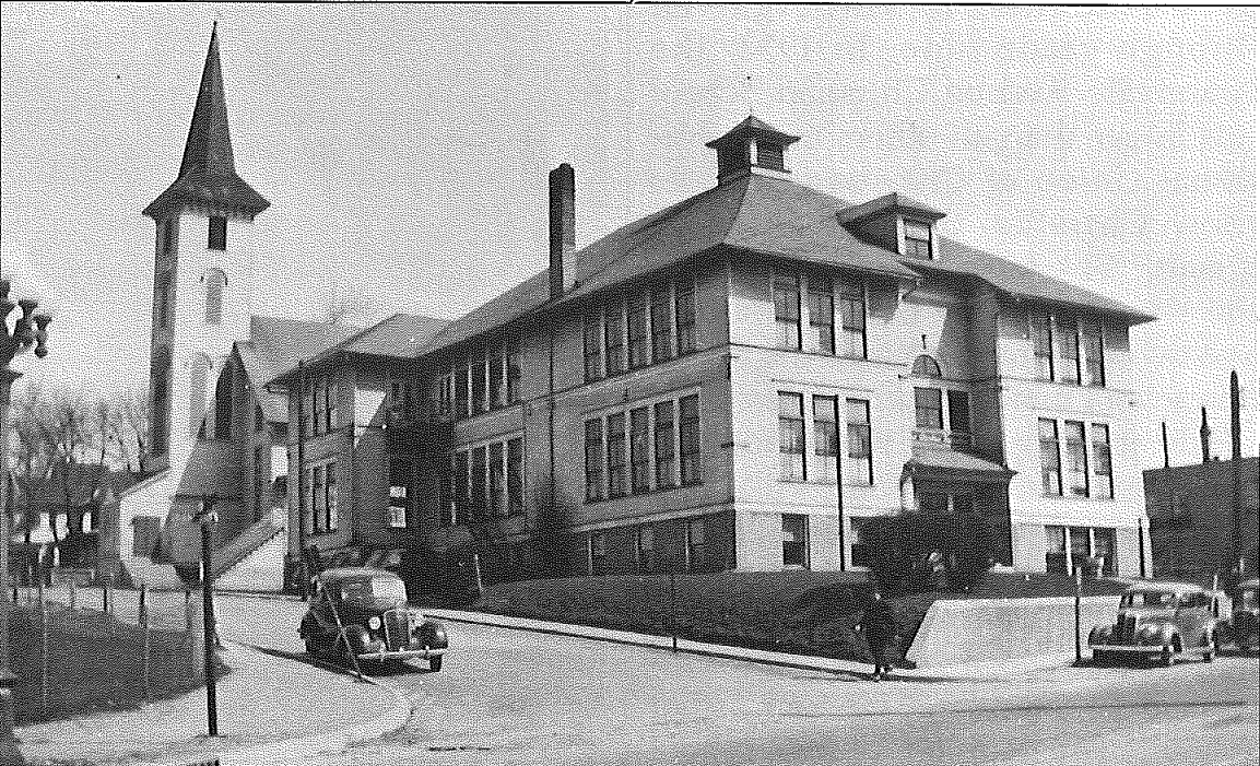 Grandville Avenue CRC and Christian school, circa 1939. Image courtesy of Calvin College